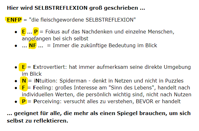 ENFP Lexikon